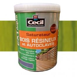 CECIL EXT Aqua Saturateur Bois résineux et autoclaves Vert autoclave
