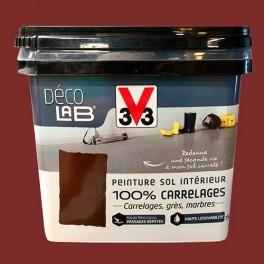 V33 Déco LAB Peinture Sol Intérieur 100% Carrelages Rouge oxyde