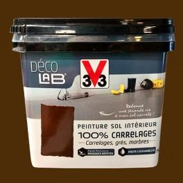 V33 Déco LAB Peinture Sol Intérieur 100% Carrelages Rouille