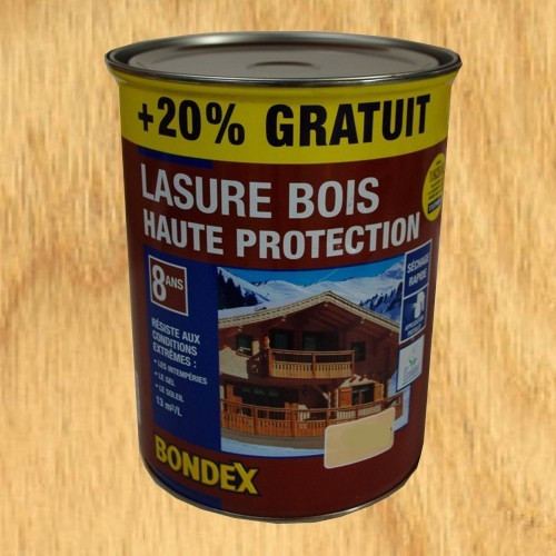 bondex lasure haute protection 8 ans aspect satin ch ne clair naturel 6l pas cher en ligne. Black Bedroom Furniture Sets. Home Design Ideas