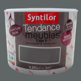 SYNTILOR Peinture Tendance Meubles Effet Soft  Anthracite