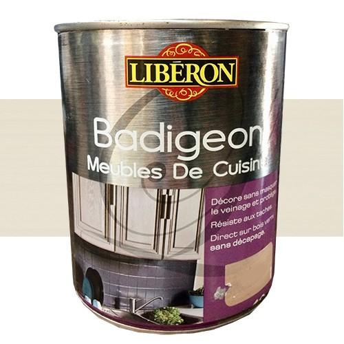 Lib ron badigeon meubles de cuisine 1l blanc cr me pas cher en ligne - Peinture cuisine pas cher ...