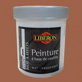 LIBÉRON Peinture à base de Caséine 0,5L Velours d'ocre