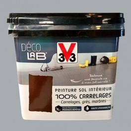 V33 Déco LAB Peinture Sol Intérieur 100% Carrelages Gris acier