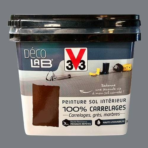 V33 d co lab peinture sol int rieur 100 carrelages gris - Peinture carrelage pas cher ...