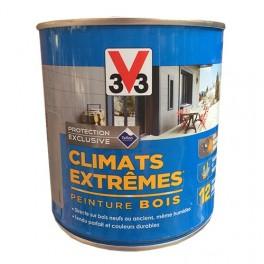 V33 Peinture Bois Climats Extrêmes Satin Blanc