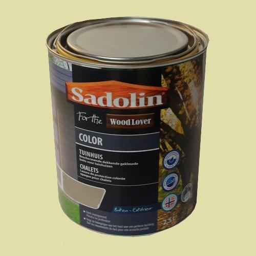 Lasure SADOLIN Wood Lover COLOR CHALETS Satinée Renne 2,5L