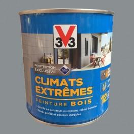 V33 Peinture Bois Climats Extrêmes Satin Gris galet