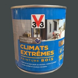 V33 Peinture Bois Climats Extrêmes Satin Anthracite