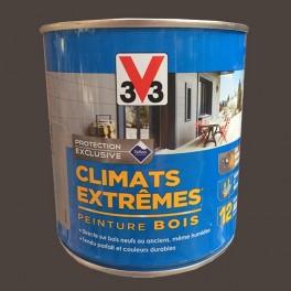 V33 Peinture Bois Climats Extrêmes Satin Brun havane