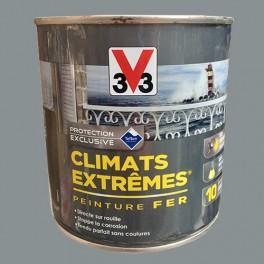V33 Peinture Fer Climats Extrêmes Brillant Gris galet