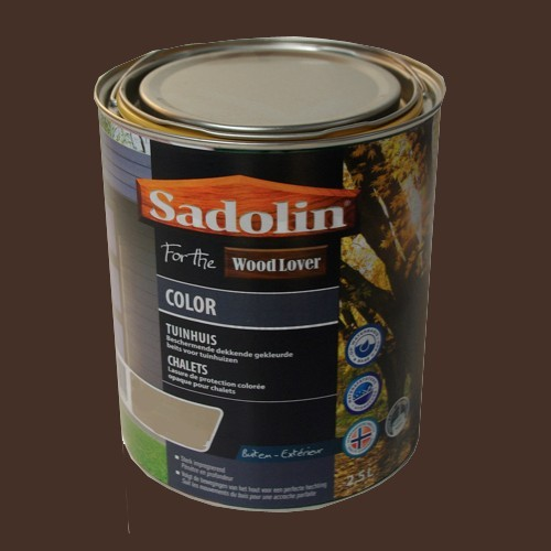 Lasure SADOLIN Wood Lover COLOR CHALETS Satinée Chocolat 2,5L