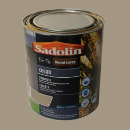 Lasure SADOLIN Wood Lover COLOR CHALETS Satinée Taupe 2,5L