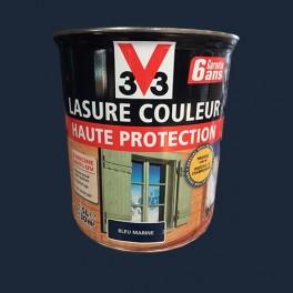V33 Lasure Couleur Haute Protection Bleu Marine