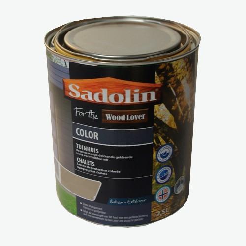 Lasure SADOLIN Wood Lover COLOR CHALETS Satinée Laponie 2,5L
