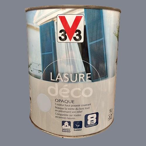 V33 Lasure Déco Titane Mat