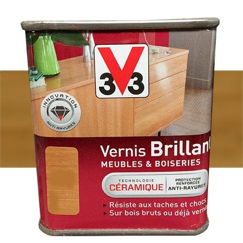 V33 Vernis Meubles et Boiseries Chêne moyen Brillant