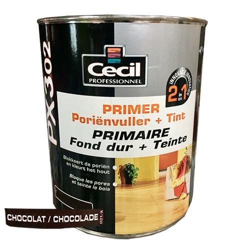 CECIL PX302 Primaire Fond dur + Teinte Chocolat