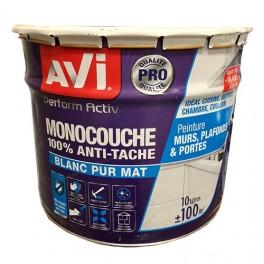 AVI Perform Activ Monocouche 100% Anti-tâche Blanc Mat