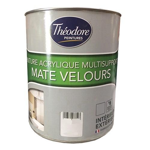 Théodore Peintures Acrylique Multisupports Mate Velours Blanc