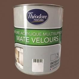 Théodore Peintures Acrylique Multisupports Mate Velours Chocolat