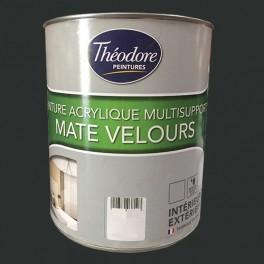 Théodore Peintures Acrylique Multisupports Mate Velours Noir