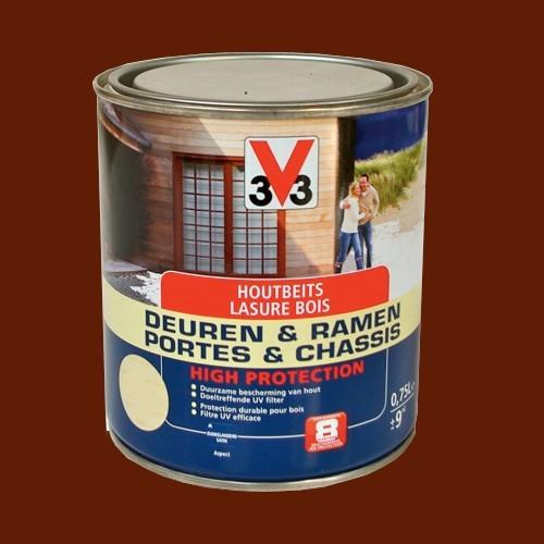 lasure bois portes et chassis v33 satin e ch ne fonc 0 75l pas cher en ligne. Black Bedroom Furniture Sets. Home Design Ideas