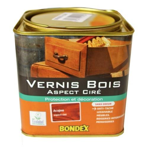 Vernis bois bondex aspect cir acajou pas cher en ligne for Peinture vernis bois