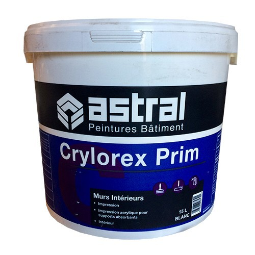 ASTRAL Peintures Bâtiment Crylorex Prim 15L