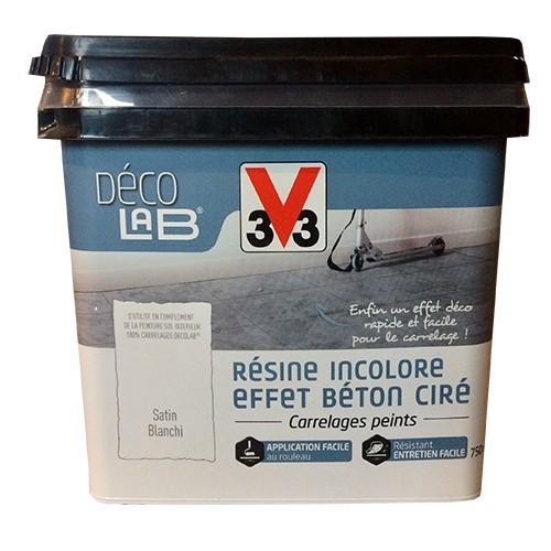 V33 Déco LAB Résine incolore Effet Béton ciré