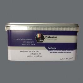 Pro Couleurs Peinture Acrylique Satinée 2 5l Gris Ardoise