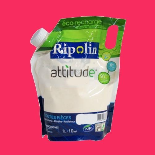 RIPOLIN Peinture Attitude Satin 1L Rose insolence