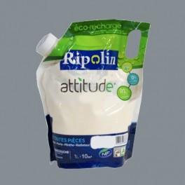 RIPOLIN Peinture Attitude Satin 1L Gris cendre