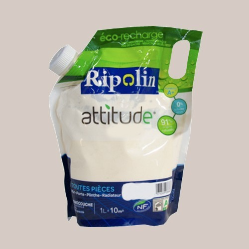 RIPOLIN Peinture Attitude Satin 1L Gris lunaire