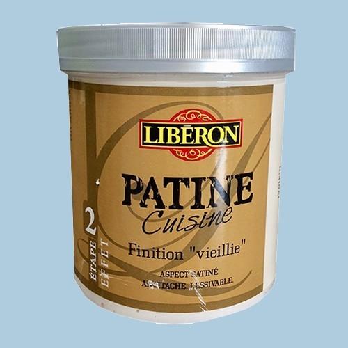 """LIBERON Patine Cuisine Finition """"Vieillie"""" (Etape 2) 1L Bleu grisé"""