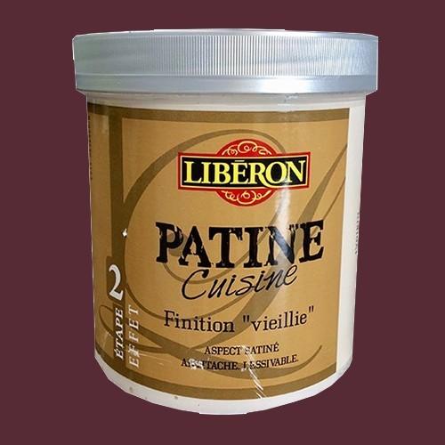 """LIBERON Patine Cuisine Finition """"Vieillie"""" (Etape 2) 1L Aubergine"""