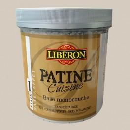 """LIBERON Patine Cuisine Finition """"Vieillie"""" (Etape 2) 1L Perle de lait"""
