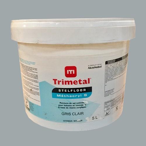TRIMETAL Peinture Stelfloor Méthacryl S 5L Gris clair