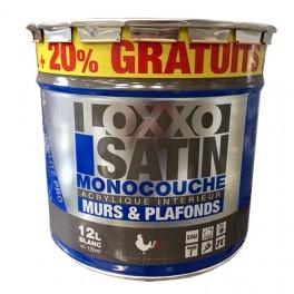 LOXXO Peinture Satin Monocouche 12L Blanc