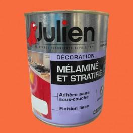 Peinture acrylique Mélaminé et Stratifié Julien Papaye 0,75L Brillant