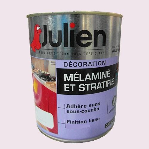 Peinture acrylique Mélaminé et Stratifié Julien Lait de coco 0,75L Satin