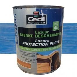 CECIL LX545 Lasure Protection Forte Bleu Méditerranée