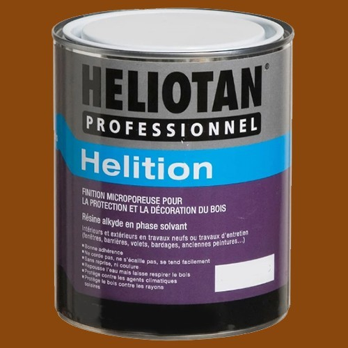 HELIOTAN Laque satinée pour Bois HELITION Marron 2,5L