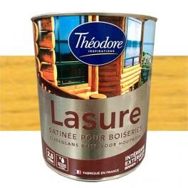 Théodore Lasure Satinée pour bois 2,5L Transparent