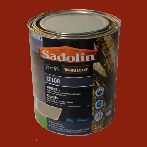 Lasure SADOLIN Wood Lover COLOR CHALETS Satinée Rouge Suédois 2,5L