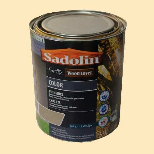 Lasure SADOLIN Wood Lover COLOR CHALETS Satinée Foin 2,5L