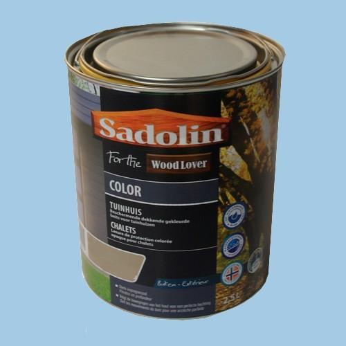 Lasure SADOLIN Wood Lover COLOR CHALETS Satinée Bleu Islandais 2,5L
