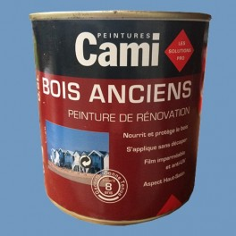CAMI Peinture Glycéro BOIS ANCIENS Bleu lavande