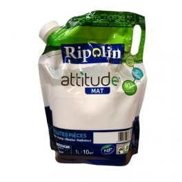 RIPOLIN Peinture Attitude 1L Blanc Mat