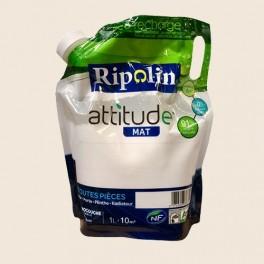 RIPOLIN Peinture Attitude 1L Blanc cassé Mat